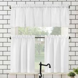 martine microfiber kitchen curtain set