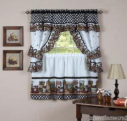 MASON JARS CURTAINS AND TOPPER COTTAGE SET
