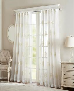Sheer Curtains For Bedroom, Transitional Fabric Sheer Curtai