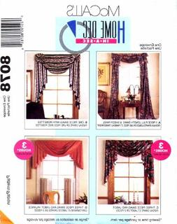McCalls 8078 Curtains Home Decor Swag, Jabot, Valance Victor
