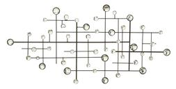 Metal/Glass Bead Wall Decor Designed Exclusively