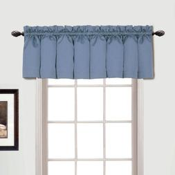 Metro Rod Pocket Tailored 54 Curtain Valance, Blue