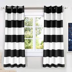 DriftAway Mia Stripe Room Darkening Grommet Unlined Window C