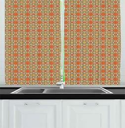 middle eastern kitchen curtains 2 panel set