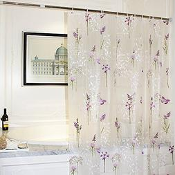 Mooxury Mildew Resistant shower curtain Liner with Hooks for