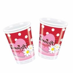 Minnie Mouse Red Polka Dot Party Plastic Cups x 10