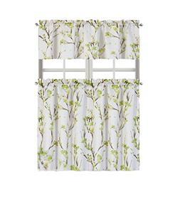 Regal Home Collections Misaki Floral Complete Kitchen Curtai