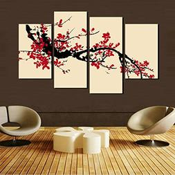 Modern Decoration Print Decor For Items Art Paintings 4 Pane