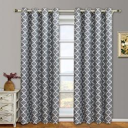 "Set of 2 Panels 104Wx96""L -Royal Tradition - Meridian - Grey"