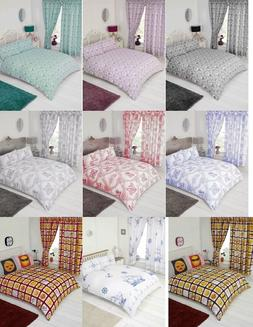 MODERN STYLISH LUXURY DUVET COVER SETS CURTAINS SINGLE DOUBL