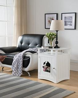 Molly Pet House Side Table in White