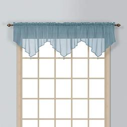 United Curtain Monte Carlo Sheer Ascot Valance, 40 by 22-Inc