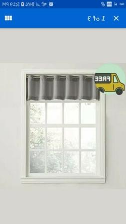 No. 918 Montego Casual Textured Kitchen Curtain Valance, 56""