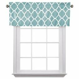 Flamingo P Moroccan Gray Blue Valance Curtain Extra Wide and