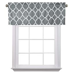 Flamingo P Moroccan Gray Valance Curtain Extra Wide and Shor