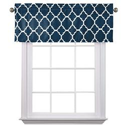 Flamingo P Moroccan Navy Valance Curtain Extra Wide and Shor