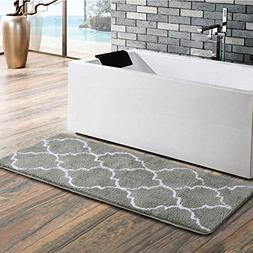 Uphome Moroccan Patten Extra Long Bathroom Rug, Microfiber W