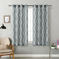 jinchan Moroccan Tile Print Curtains for Living Room Curtain