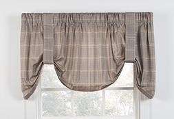 Morrison Plaid Check Print Tie-Up Valance 60-Inch-by-22-Inch