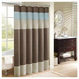 "Madison Park MP70-1489 Tangiers Shower Curtain, 72 x 72"", Bl"