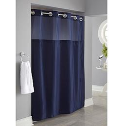 Hookless® Mystery Shower Curtain and PEVA Liner