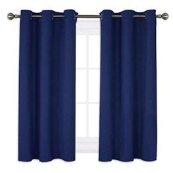 NICETOWN Royal Navy Blue Blackout Draperies Curtains, All Se