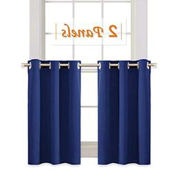 RYB HOME Half Window Curtain Tiers for Bathroom Decoration,