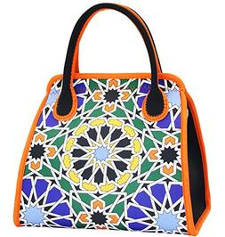 """Neoprene Lunch Bag Tote by QOGiR - Large 10"""" x 14"""" x 6.5"""" in"""
