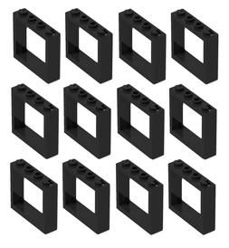 ☀️ NEW LEGO Black Window 1x4x3 No Shutter Tabs Lot of 12