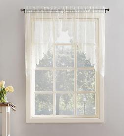 """NEW - Joy Classic Lace Kitchen Curtain Swag Pair, 60"""" x 38"""","""