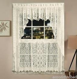NEW Lorraine Home Fashions Hopewell Lace Kitchen Curtain - I