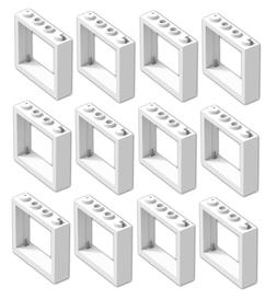 ☀️ NEW LEGO WHITE Window 1x4x3 No Shutter Tabs Lot of 12