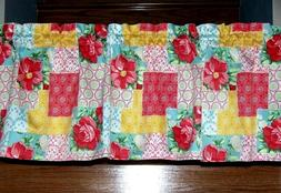 Pioneer Woman Country Patchwork Valance Curtain Kitchen Wind