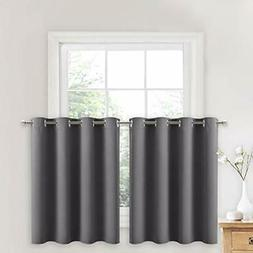 nicetown blackout kitchen window curtains thermal 52