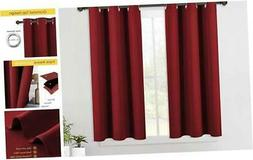 nicetown burgundy window curtains blackout drapes thermal