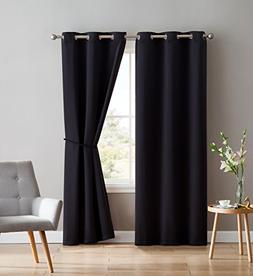 Nicole - 2 Premium Grommet Blackout Window Curtain Panels Wi