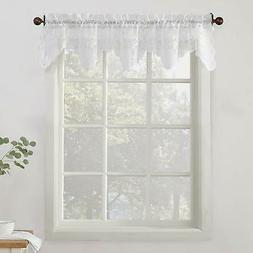 "No. 918 Alison Sheer Lace Kitchen Curtain Valance, 58"" x 14"""