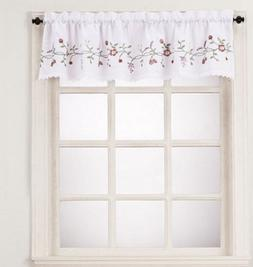 *No. 918 Charlene Kitchen Window Valance  56X14 White Multi