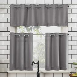 No. 918 Dylan Casual Textured Semi-Sheer Grommet Kitchen Cur