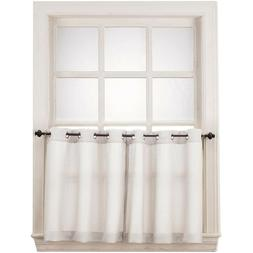No. 918 Montego Grommet Textured Kitchen Curtain Tier Pair,
