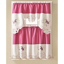 RT Designers Collection Tier and Valance Noble Embroidered T