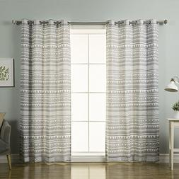 Best Home Fashion Nordic Geometric Tribal Curtains - Stainle