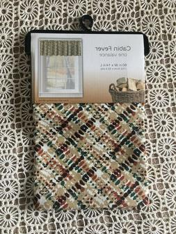 """NWT COLORDRIFT CABIN FEVER PRINT VALANCE KITCHEN CURTAIN 60"""""""