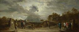 'David Teniers The Younger Peasants At Archery ' Oil Paintin