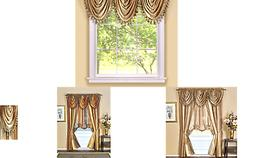 Achim Home Furnishings Ombre Waterfall Valance, Sandstone