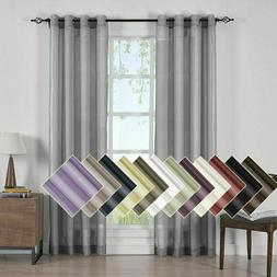 one single abri grommet crushed sheer curtain