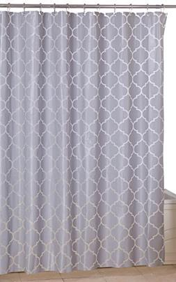 Utopia Home Opulent Printed Shower Curtains,Grey Pattern,72