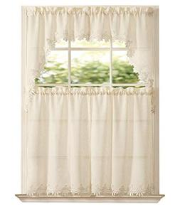 GoodGram Orchard Luxurious Matte Sheer & Macrame Kitchen Cur