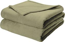 Effortless Bedding Oversized Plush Semi-Fitted Bed Blanket