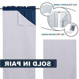 PAIR Noise Reducing Light Blocking White Blackout Curtain Li